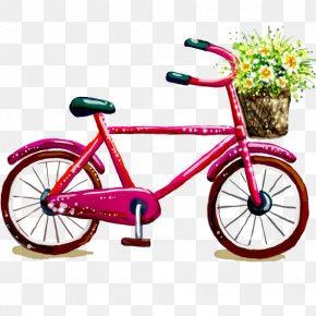 Free Bicycle Lovely Lady To Pull Material - Bicycle Pedal Bicycle Wheel Road Bicycle Bicycle Saddle PNG