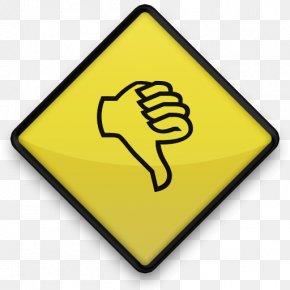 Thumbs Down - Thumb Signal Symbol Clip Art PNG