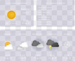 Vector Painted Weather Forecast - Weather Forecasting Icon PNG