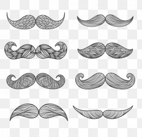 8 Beard Design Pattern Vector Material - Moustache Drawing Euclidean Vector PNG