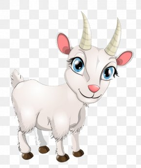 Hand-painted Goats - Goat Sheep Cartoon Drawing PNG