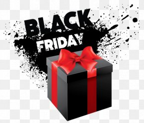 Black Gift Box - Black Friday Free Content Clip Art PNG