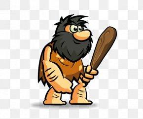 Hungry Caveman Neolithic Caveman Hunter Clip Art PNG