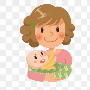 Mother Holding A Baby - Mother Euclidean Vector PNG