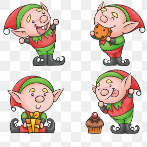 Funny Hand-drawn Sprites - The Elf On The Shelf Santa Claus Christmas Elf PNG