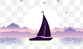 Ocean Sailing Seagull - Vecteur Illustration PNG