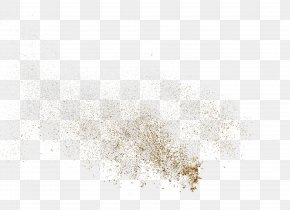 Sprinkle The Golden Powder Particles - White Pattern PNG