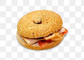 Cream Cheese Bagel - Breakfast Sandwich Ham And Cheese Sandwich Fast Food Bocadillo Bagel PNG
