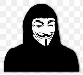 Mask - V Guy Fawkes Mask Sticker Clip Art PNG