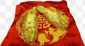 Vector Wedding Golden Shoe - Shoe Euclidean Vector PNG