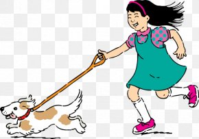Drawings Of People Walking - Dog Walking Clip Art PNG