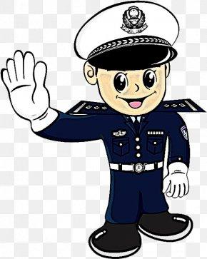 Police Officer Gesture - Cartoon Police Gesture Police Officer PNG