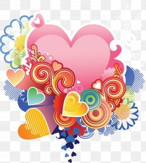 POP ART - Valentine's Day Heart Love Desktop Wallpaper PNG