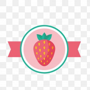 Cute Pink Strawberry Label - Royalty-free Stock.xchng Illustration PNG