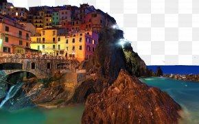 Italy Cinque Terre Twenty-one - Manarola Desktop Environment High-definition Television 1080p Wallpaper PNG