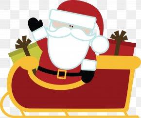 Santa Claus - Santa Claus Clip Art Openclipart Reindeer Sled PNG