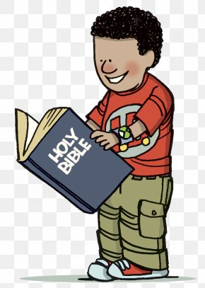 Boy Reading Clipart - Bible Story Child Bible Study Clip Art PNG