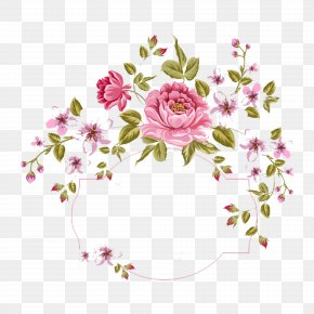 Drawing Small Fresh Garland Border - Flower Bouquet Stock Photography Clip Art PNG