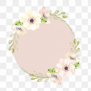 Hand-painted Garlands - Watercolor Painting Pink Flowers Clip Art PNG