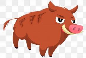 Vector Wild Boar Material - Domestic Pig Clip Art PNG