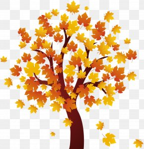 Tree Clip Art - Cartoon Autumn Clip Art PNG