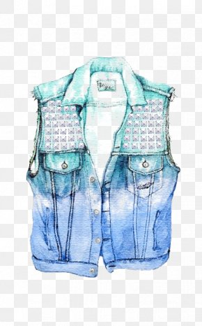 Vest - Drawing Denim Clothing Jacket Illustration PNG
