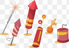 Vector Chinese New Year Fireworks - Fireworks Firecracker PNG