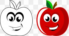 Apple Fruit - Drawing Apple Cartoon Clip Art PNG