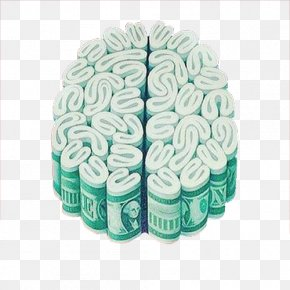 Money Combination Of Brain Flower - Brain Money Investment Drawing Painting PNG