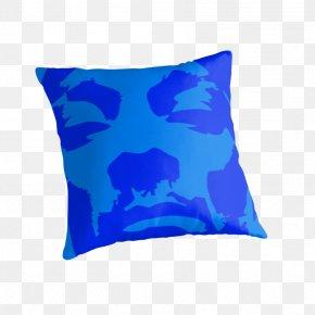 Snoop Dogg - Cobalt Blue Aqua Throw Pillows Cushion PNG
