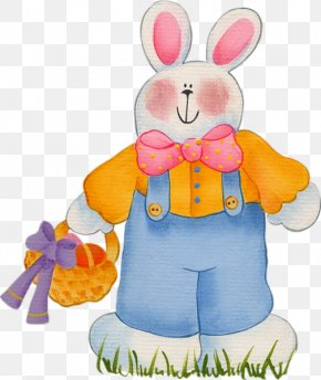 Cartoon Easter Bunny Lapin - Easter Bunny Easter Egg Drawing Rabbit PNG