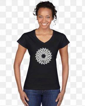 Printed T-shirt Garment Fabric Pattern Shading Pat - Printed T-shirt Neckline Gildan Activewear PNG