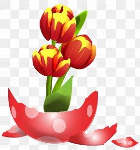 Easter Egg Vase Clip Art Image - Red Easter Egg Clip Art PNG
