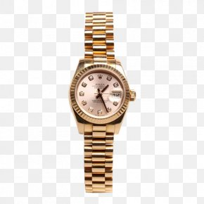 Ms. ROLEX Watch Gold Diamond Scale - Analog Watch Rolex Longines Pocket Watch PNG