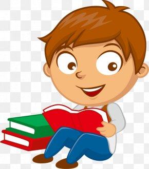Reading Clip Art Pinclipart - Clip Art Vector Graphics Illustration Boy PNG