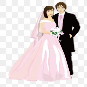 Wedding Dress Couple - Wedding Dress Marriage Bride Formal Wear PNG