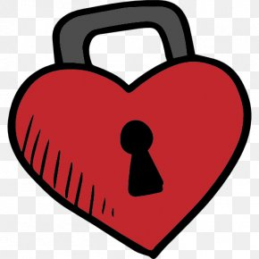 Heart Lock - Heart Love Clip Art PNG