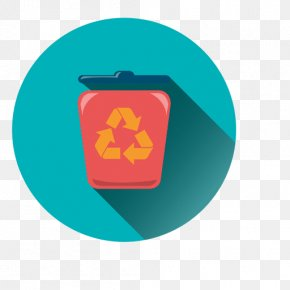 Round - Recycling Bin Trash Clip Art PNG