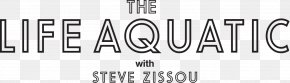 Wes Anderson - Logo Font Typography The Life Aquatic With Steve Zissou Brand PNG