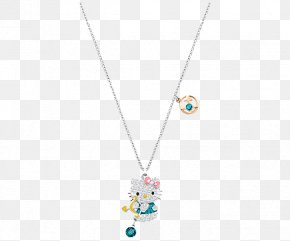 Swarovski Jewellery Women,Blue Necklace - Hello Kitty Swarovski AG Necklace Pendant PNG