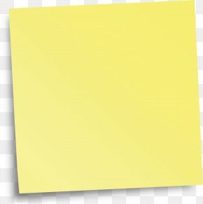 Sticky Note - Paper Yellow Angle PNG