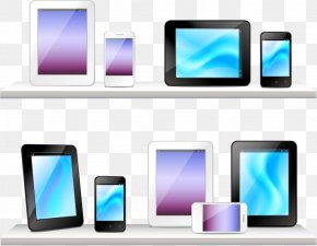 Computer And Mobile Phone Display Vector - Smartphone Computer Monitor Flat Panel Display Mobile Phone Icon PNG