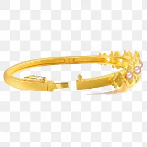 Chow Sang Sang Gold Jewelry Clover Marriage Dowry Gold Bracelet Female 88900K Series Three - Bangle Gold Jewellery Chow Sang Sang Bracelet PNG