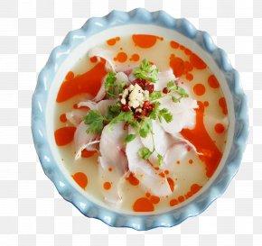 Boiled Fish - Fish Slice Vegetarian Cuisine Asian Cuisine Soup PNG
