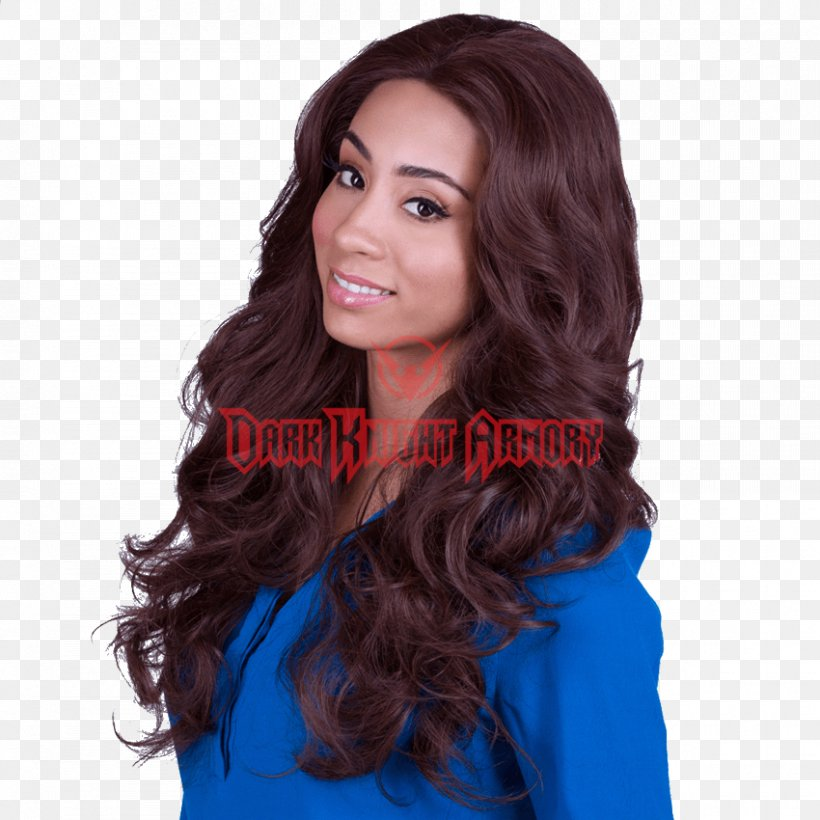 Lace Wig Long Hair Hair Coloring Chocolate, PNG, 850x850px ...