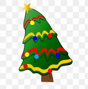 Cartoon Christmas Tree - Santa Claus Christmas Tree Clip Art PNG