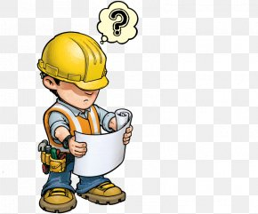 Work Hard - Construction Worker Architectural Engineering Cartoon Royalty-free PNG