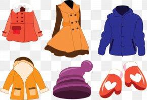 Vector Winter Coat - Outerwear Coat Winter Clothing PNG
