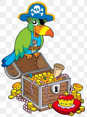 The Parrot Stood On The Prize Box - Buried Treasure Royalty-free Clip Art PNG