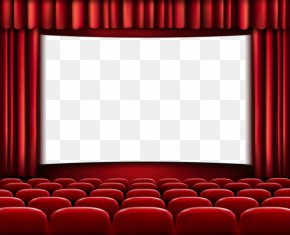 Red Curtains - Cinema Free Content Film Clip Art PNG